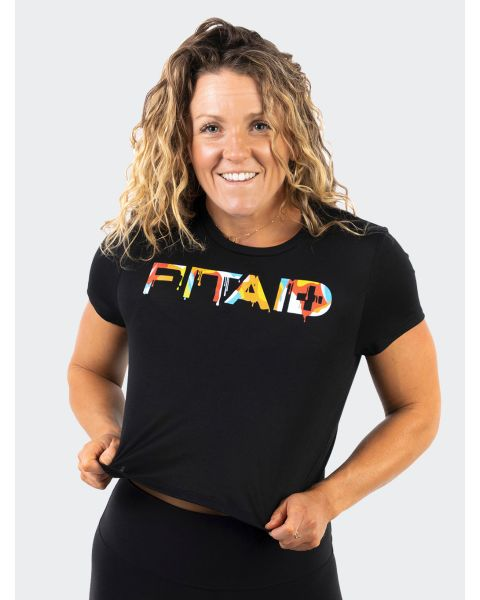 FITAID Drip Cropped Tee