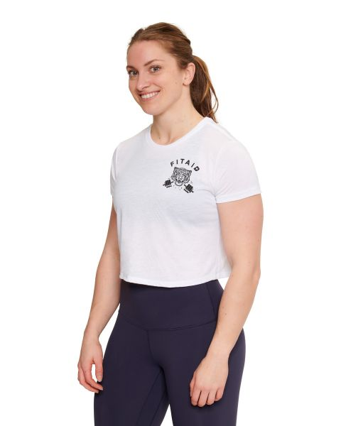 FITAID Tiger Cropped Tee