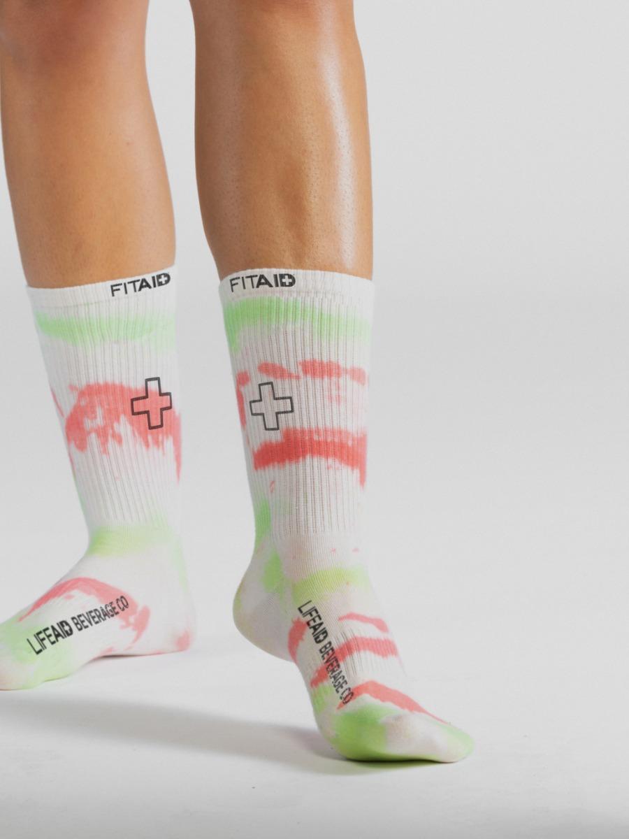 FITAID Tie Dye Socks - Green