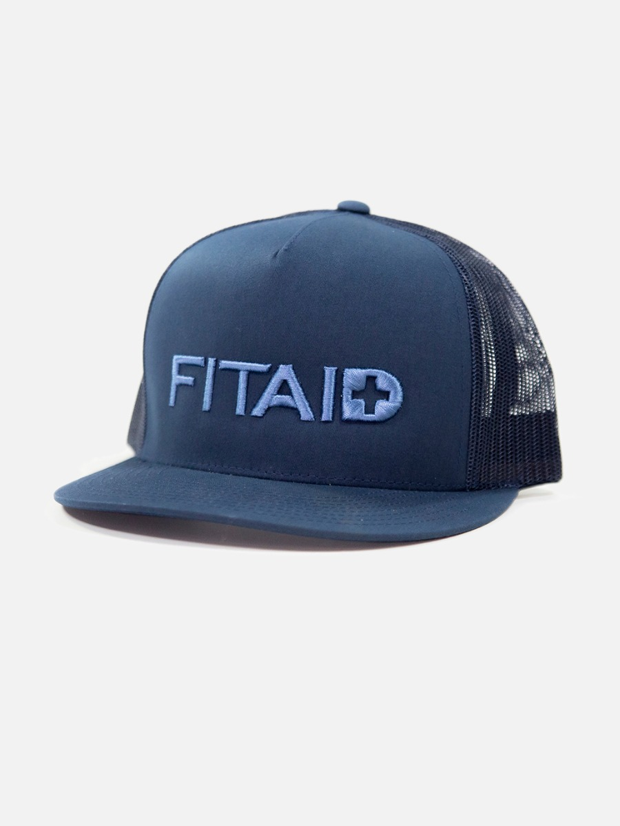 FITAID Curved Fat Hat - Navy