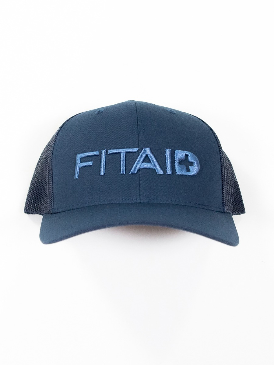 FITAID Curved Bill Hat-Navy