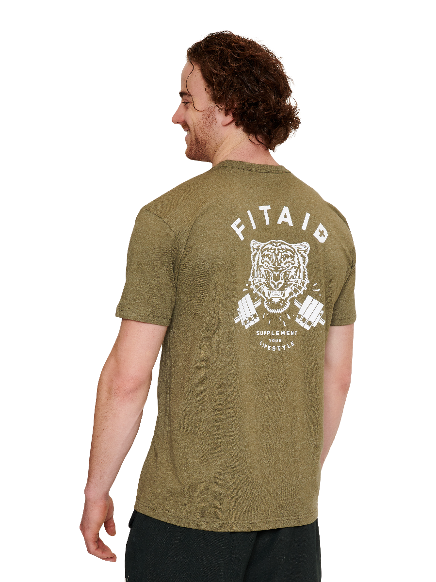 FITAID Tiger Military Green T-shirt