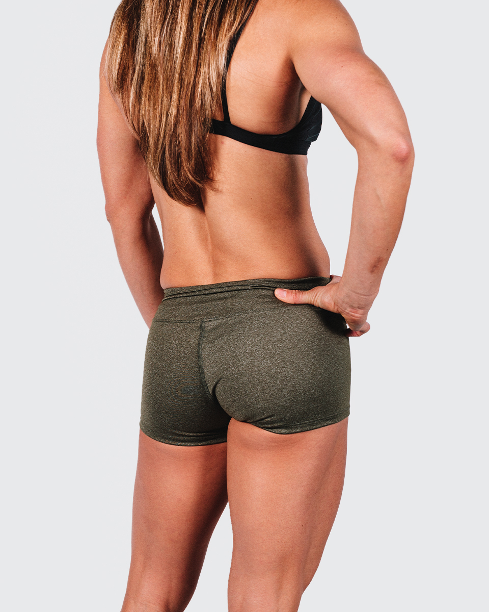 FITAID BOOTY SHORTS - MILITARY GREEN