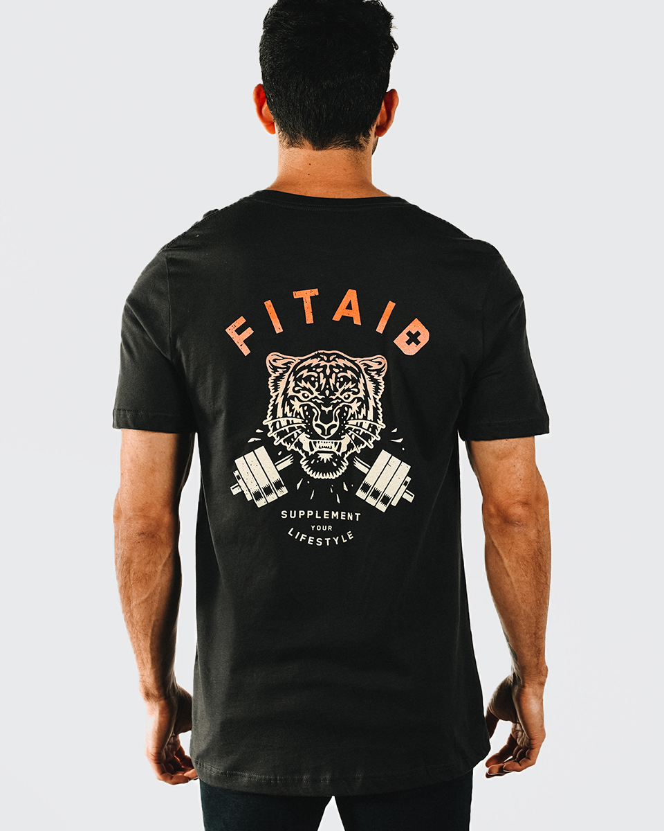 FITAID MENS T-SHIRT TIGER RASTA